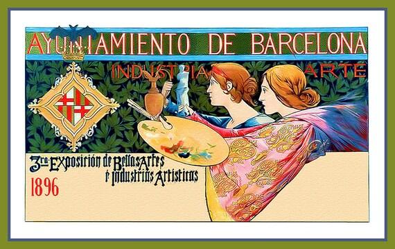 Barcelona Artists Refrigerator Magnet