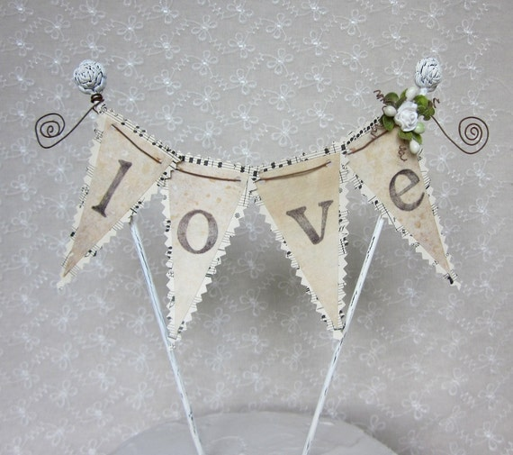 Music and Love Wedding Cake Topper