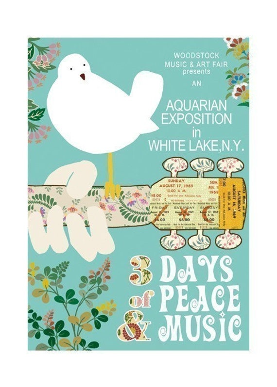 NEW A3 SIZE Woodstock Birdie Collage Print