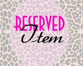 Reserved for Kathy Silva