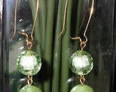 Lime Green Fish hook Earrings