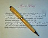 European Style Handmade Canary Wood Pen