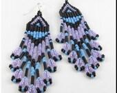 CLEARANCE SALE! Native American Inspired Beaded Earrings Colorful Southwestern Dangle Chandelier Beadwork