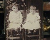 Siblings  Brothers Sisters Vintage Antique Cabinet Card Photo