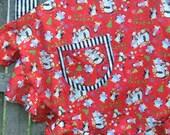 Peppermint Candy  PENGUINS CHRISTMAS APRON Full Length Flouncy Ruffled