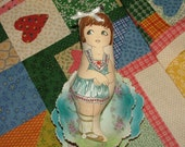 Charlene Marie Vintage Inspired Cloth Paper   Doll