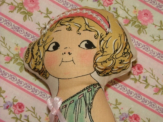 CUSTOM ORDER  for Sandy Priscilla Mae Cloth Paper Doll