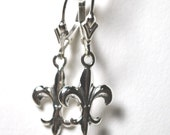 Sterling Silver Fleur de lis Silver Earrings SPECIAL PRICE