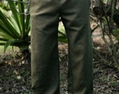 Mens Drawstring Hemp Pants