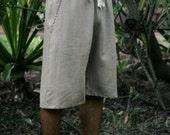 Mens Drawstring Hemp Shorts