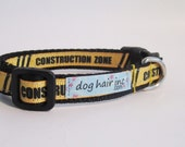 Under Construction mini adjustable clip collar for the Dog That is a Work in Progress
