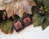 Hand Crafted Polymer Clay Bird Earrings on Genuine Copper