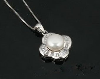 Sterling Pearl Pendant Special Made to Order Bride Mother of the Bride Mother of the Groom Sweet Sixteen