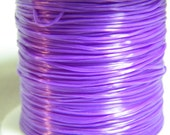 Elastic cord: 1 spool of bright purple elastic for beading, .8mmx12 meters