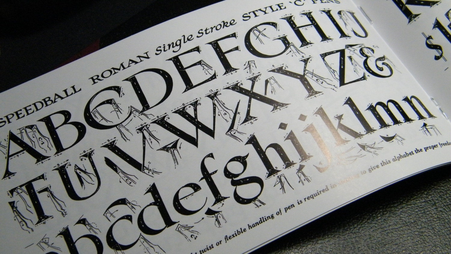 Calligraphy Booklet Instructions For 4 Styles Of