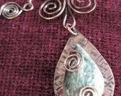 Seraphinite Gemstone Necklace and Matching Earrings
