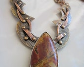 """My """"Confetti"""" Picasso Jasper Necklace and Earring Set"""