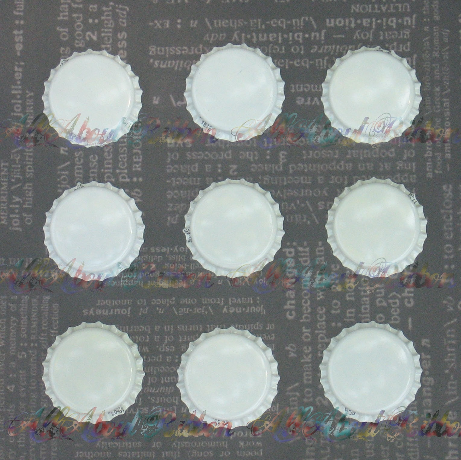 20 white new blank bottle caps crafts hairbows plus free