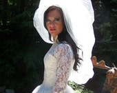 Haute Couture Double Layered Shimmer Bubble Veil-CRBOGGS Signature Veil Original Designer