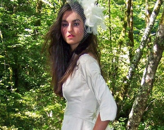 Flight of Fancy- Feathered Birdcage Veil- CRBoggs Original