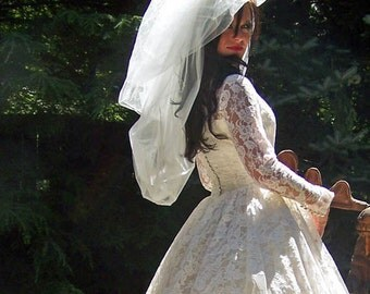 Haute Couture Double Layered Bubble Veil  CRBOGGS Signature Veil Original Design