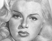 Diana Dors Original Drawing