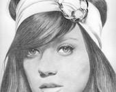 Lily Allen Original Drawing
