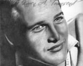 Paul Newman Original Drawing