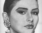 Original drawing of  Catherine Zeta Jones