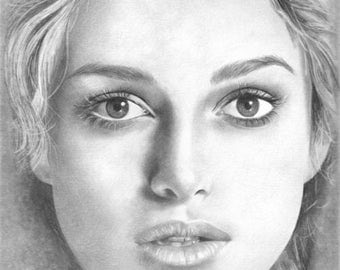 Keira Knightley Original Drawing