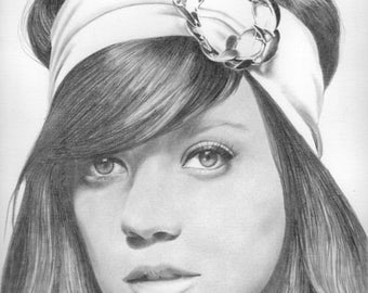 Lily Allen Original Drawing