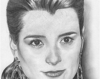 Cote de Pablo Original Drawing