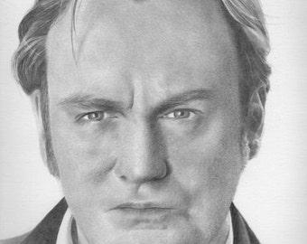 Philip Glenister Original Drawing