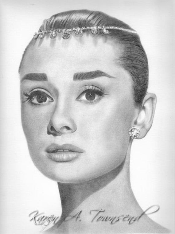 Original Drawing of Audrey Hepburn