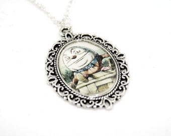 Alice In Wonderland Humpty Dumpty Cameo Necklace