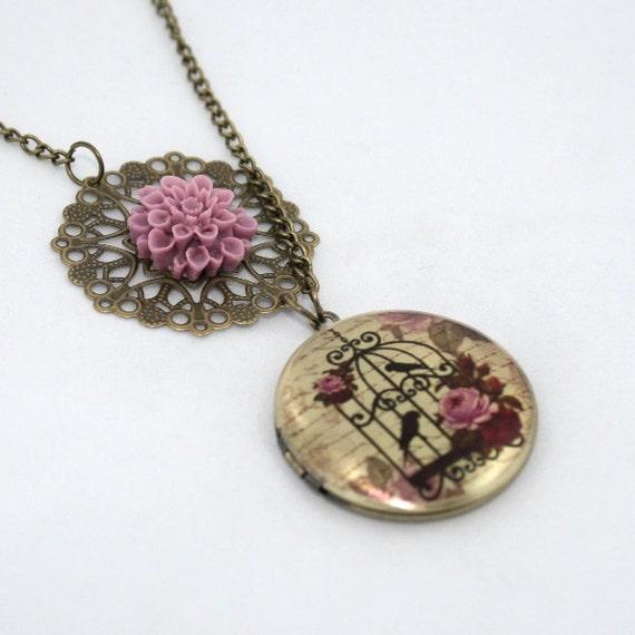 Birdcage Locket Necklace