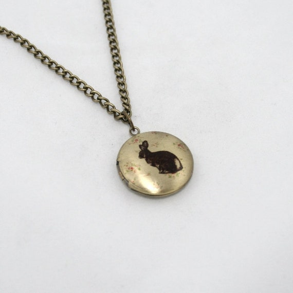 Bunny Rabbit Locket Necklace