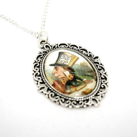 mad hatter cameo necklace in necklace