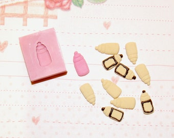 1/12 scale cookie collection (baby bottle shaped) Mold/Mould for Resin, Polymer clay & Air dry Clay 1,3 cm x 0,6 cm
