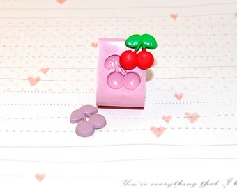 Miniature cherry Mold/Mould for Resin, Polymer clay & Air dry Clay (Ref. 332) 1,4 cm x 1,4 cm