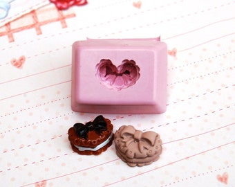 Heart shape tart Mold/Mould for Resin, Polymer clay & Air dry Clay 1,6 cm x 1,1 cm