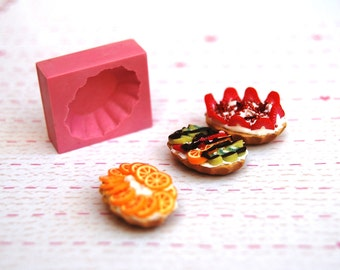 1/12 scale tart base1 Mold/Mould for Resin, Polymer clay &  Air dry Clay 2 cm x 1,7 cm (Ref. 93)