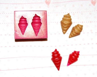 Ice cream2 Mold/Mould for Resin, Polymer clay & Air dry Clay Big ice cream lenght 1,5 cm small ice cream lenght 1,3 cm
