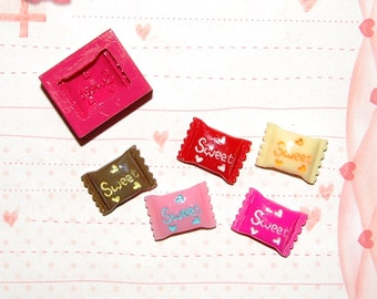 Candy2 Mold/Mould for Resin, Polymer clay & Air dry Clay 1,6 cm 1,1 cm