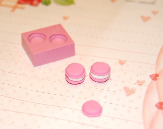 Macaron Mold/Mould for miniature food, jewelry, button, craft, sweet using Resin, Polymer clay & Air dry Clay.