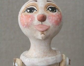 Primitive Folk Art Snow Girl Christmas Doll