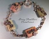 Picasso Jasper and Copper Swirl Bracelet