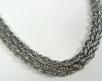 Silver Plated Rope Style 24 inch Necklaces - 3
