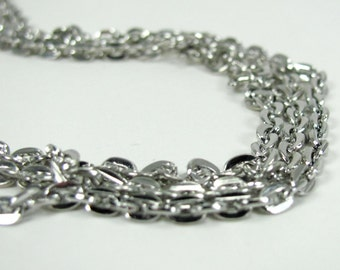 Silver Plated Cable Style 18 inch Necklaces - 3