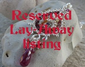 RESERVED LISTING - Pleasing Paisley Love - Ruby and Sapphire Necklace